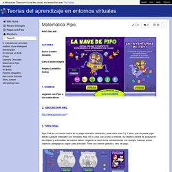 Teorias del aprendizaje en entornos virtuales - Matemática Pipo