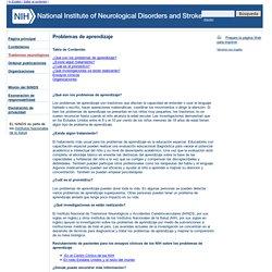 Problemas de aprendizaje : National Institute of Neurological Disorders and Stroke (NINDS)