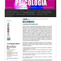 Aprendizaje por observacion - Curso Psicologia para Educadores