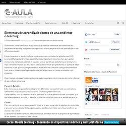 Elementos de Aprendizaje en una plataforma e-learning