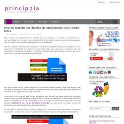 Pon en marcha los diarios de aprendizaje con Google Docs