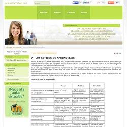 7 - LOS ESTILOS DE APRENDIZAJE - www.profevirtual.com