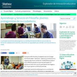 Aprendizaje y Servicio en Filosofía: jóvenes protagonistas de su ciudadanía