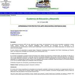 APRENDIZAJE POR PROYECTOS (APP) /EDUCACIÓN A DISTANCIA (EAD)