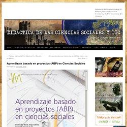 Aprendizaje basado en proyectos (ABP) en Ciencias Sociales