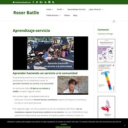 Roser Batlle - Blog de aprendizaje-servicio de Roser Batlle