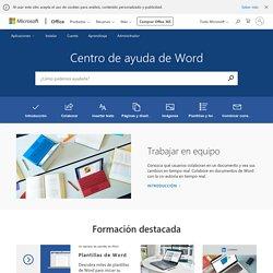 Ayuda y aprendizaje de Word: soporte de Office