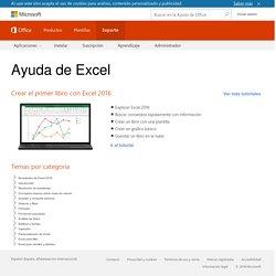 Ayuda y aprendizaje de Excel: soporte de Office