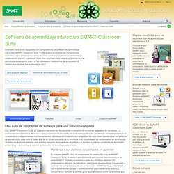 Software de aprendizaje interactivo SMART Classroom Suite