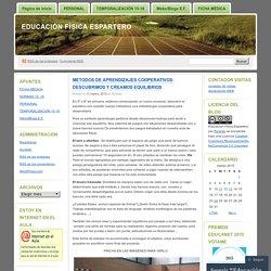 METODOS DE APRENDIZAJES COOPERATIVOS: DESCUBRIMOS Y CREAMOS EQUILIBRIOS