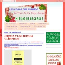 Las cosas que aprendo: GRECIA Y LOS JUEGOS OLÍMPICOS