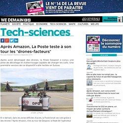 """Après Amazon, La Poste teste à son tour les """"drones-facteurs"""""""