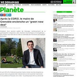 """Après la COP21, le maire de Grenoble enclenche un """"green new deal"""""""