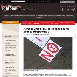 Après la Grèce : quelles leçons pour la gauche européenne ?
