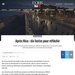 Après Nice: dix textes pour réfléchir