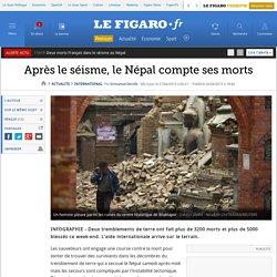 Après le séisme, le Népal compte ses morts