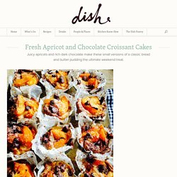 Fresh Apricot and Chocolate Croissant Cakes