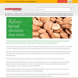 Apricot kernel cancer cure