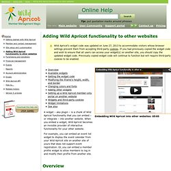 Adding Wild Apricot functionality to other websites - Online Help - Wild Apricot help