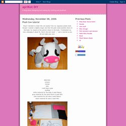apriKot DIY: Plush Cow tutorial