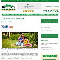 April is Lawn Care Month