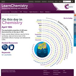 April 16 - On This Day in Chemistry