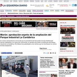 Morón: aprobación exprés de la ampliación del Parque Industrial La Cantábrica