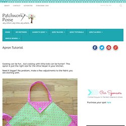 Apron Tutorial « patchwork crafts, quilt patterns for beginners, tutorials, free patterns