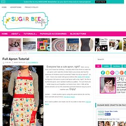 crafts, sewing, recipes, photo tips, and more!: Full Apron Tutorial