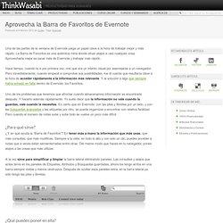 Aprovecha la Barra de Favoritos de Evernote