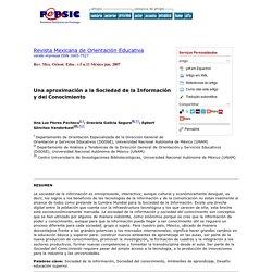 Revista Mexicana de Orientación Educativa - Una aproximación a la Sociedad de la Información y del Conocimiento