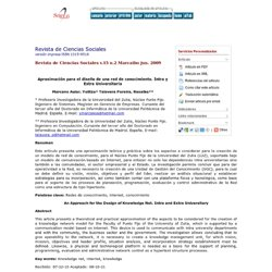 Revista de Ciencias Sociales - <b>Aproximación para el diseño de una red de conocimiento</b>: <b>Intra y Extra Universitaria</b>