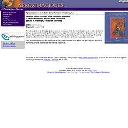 Aproximaciones al estudio de la literatura hispánica Information Center:
