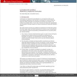 Aproximaciones a la traducción. La traducción jurídica: didáctica y aspectos textuales. Anabel Borja Albi.