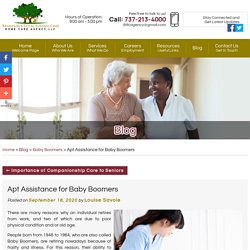 Apt Assistance for Baby Boomers