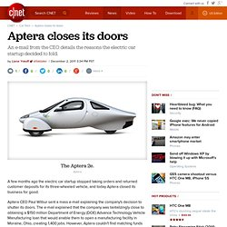Aptera closes its doors