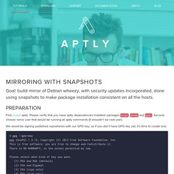 aptly - Mirroring with snapshots