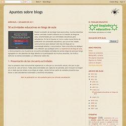 50 actividades educativas en blogs de aula