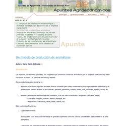 Apuntes Agroeconómicos - FAUBA