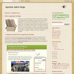 Apuntes sobre blogs: Cómo organizar un blog