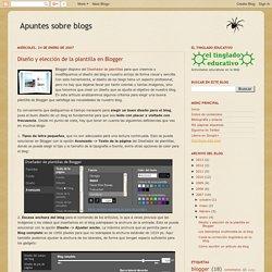 Apuntes sobre blogs: Diseño y elección de la plantilla en Blogger