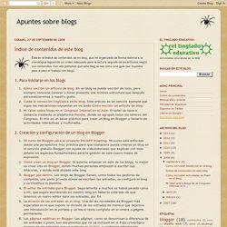 Apuntes sobre blogs: Índice de contenidos de este blog