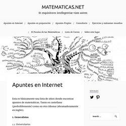 Apuntes en Internet – MATEMATICAS.NET