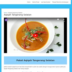 Jasa Paket Aqiqah Tangerang Selatan Gratis Ongkir