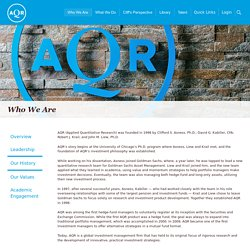 AQR - Our History