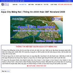 Thông tin chính thức CĐT Novaland 2020