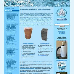 R) - Aquabarrel: Start Here to learn about rain barrel products. - Aquabarrel.com