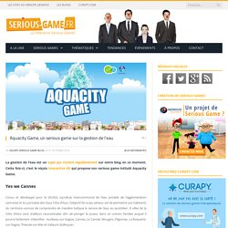 Aquacity Game, un serious game sur la gestion de l'eau