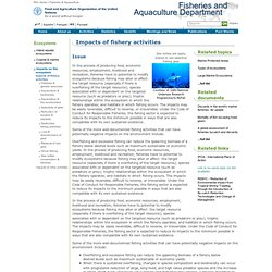 Fisheries & Aquaculture - Impacts of fishery activities