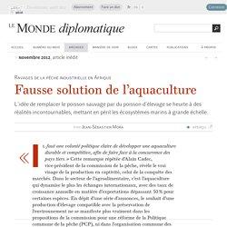 Fausse solution de l'aquaculture (industrielle), par Jean-Sébastien Mora
